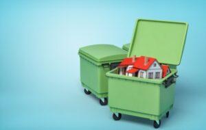Контейнер для вывоза мусора из частного сектора.